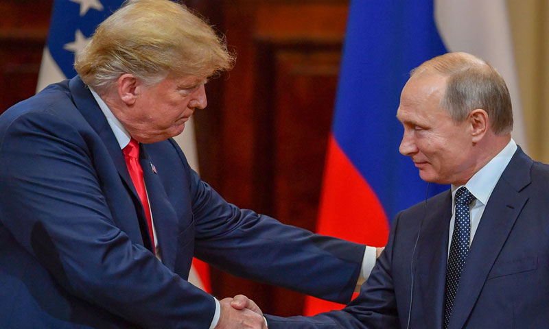 الرئيسين بوتين وترامب في قمة هلسنكي (وكالات روسية)