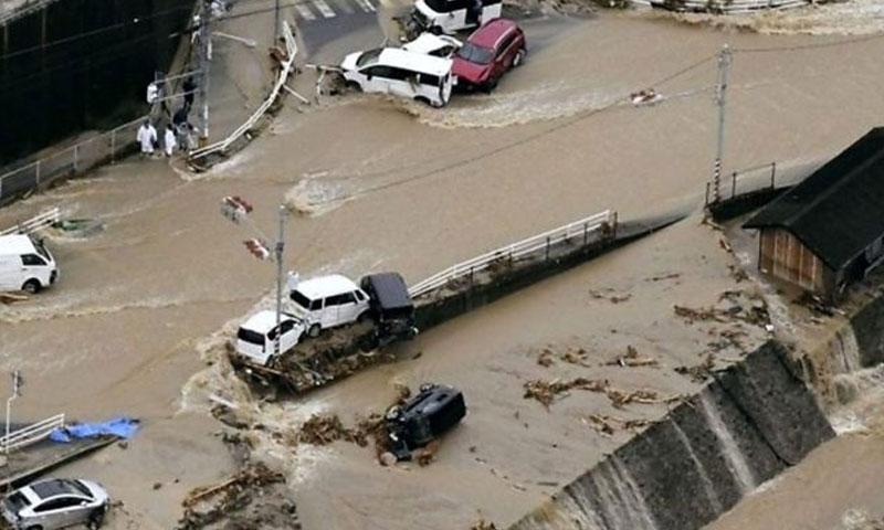 فيضانات وانهيارات أرضية في اليابان تموز 2018 (BBC )