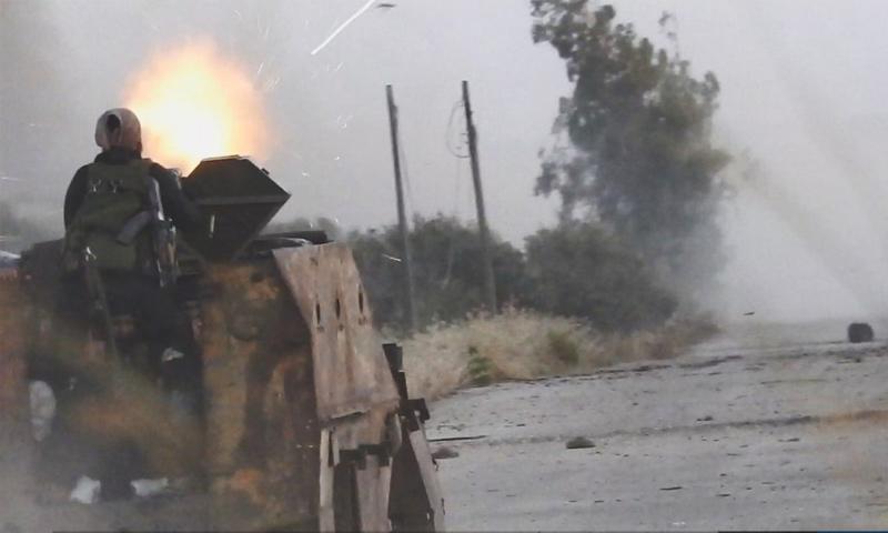 تنظيم الدولة في أثناء اقتحام بلدة حيط في حوض اليرموك - 12 تموز 2018 (أعماق)