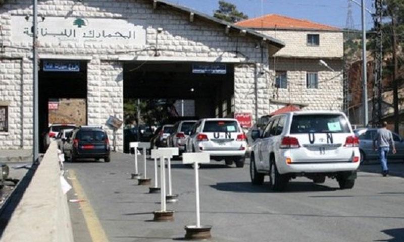 معبر المصنع الحدودي بين لبنان وسوريا تموز 2018 (قناة الجديد)