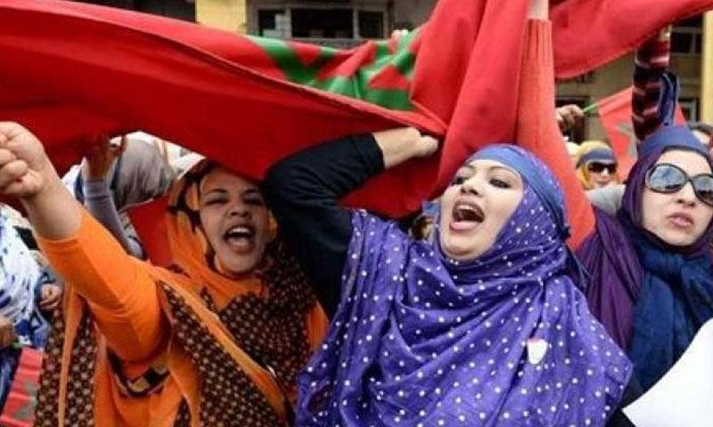 نساء يتظاهران في المغرب للمطالبة بوظائف - صورة تعبيرية (صفحات المغرب)