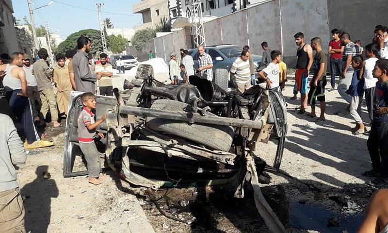 سيارة مفخخة تضرب جرابلس 5 تموز 2018 ( مدينة الباب وما حولها)