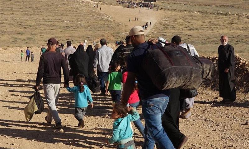 النازحون من محافظة درعا حزيران 2018 (توتير)