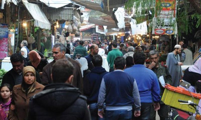 سوق باب سريجة وسط دمشق (الوطن)