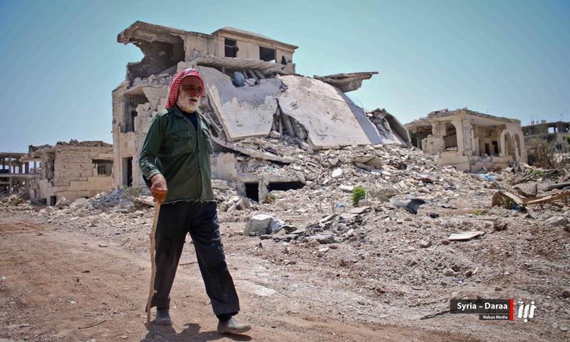 مسن سوري في محافظة درعا الجنوبية (نبأ)