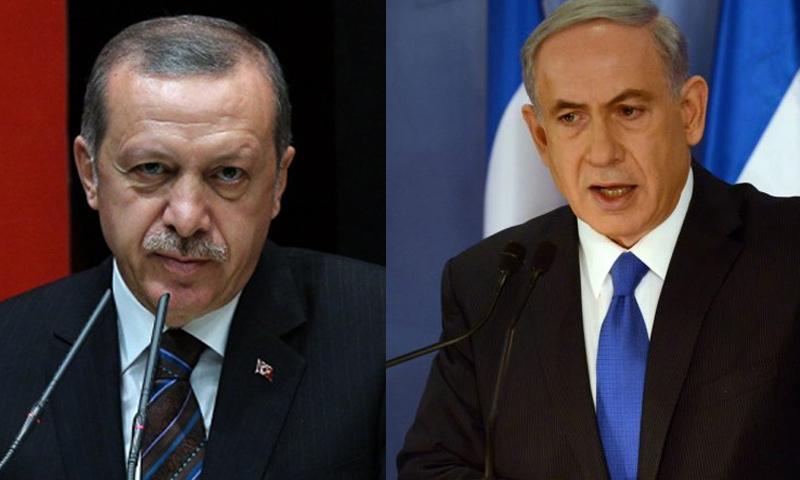 رئيس الوزراء الإسرائيلي بنيامين نتنياهو والرئيس التركي رجب طيب أردوغان (تعديل عنب بلدي)