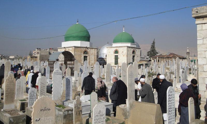 """مقبرة """"باب الصغير"""" وسط دمشق (ويكيبيديا)"""