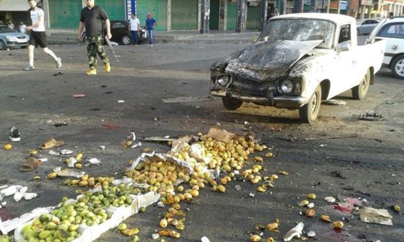 تفجيرات استهدفت مدينة السويداء- 25 تموز 2018 (رويترز)