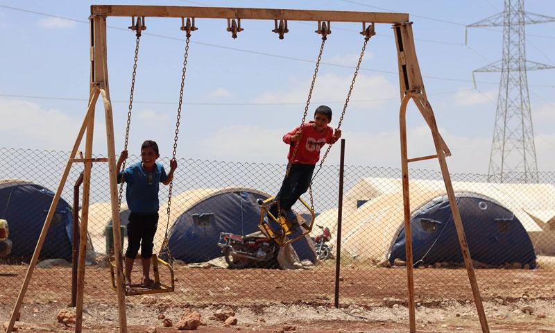 أطفال سوريون في أحد مخيمات عفرين (فيسبوك يونيسيف)