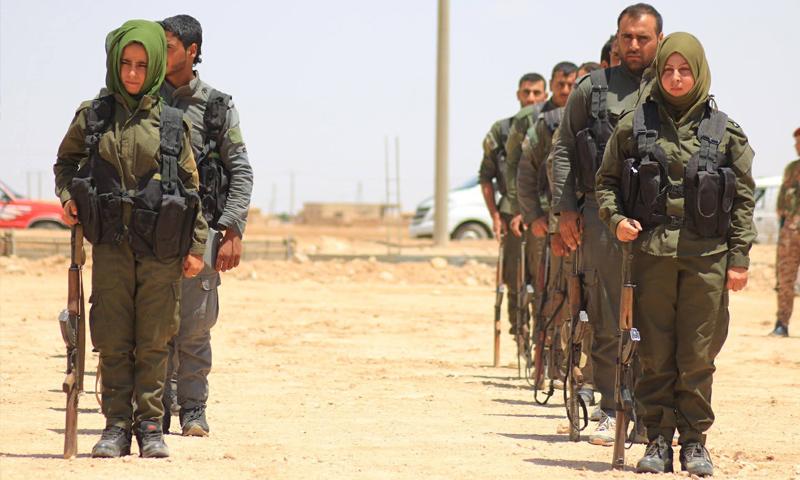 مقاتلات من قوات الأمن الداخلي التابعة لقوات أسايش بريف الحسكة - (أسايش)
