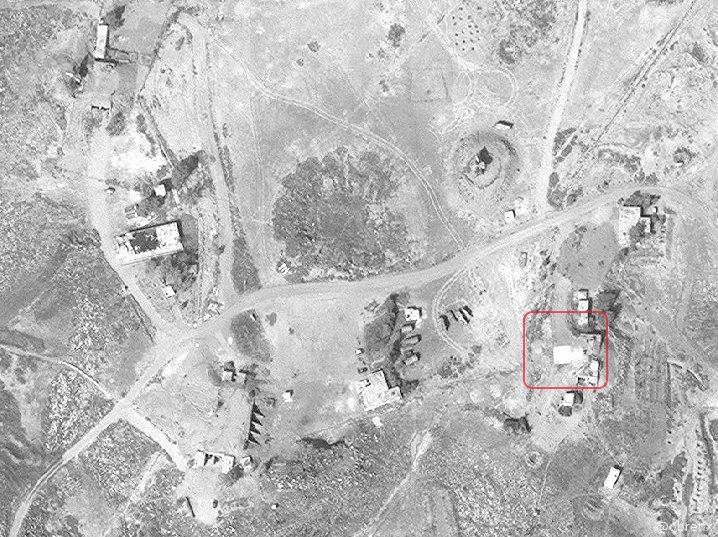 غارة اسرائيلية على كتيبة دفاع جوي 9 كيلومترات شمال مطار خلخلة - 10 شباط (اقمار صناعية)