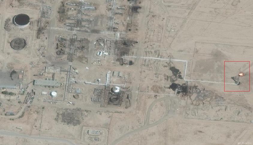 عبر الأقمار الصناعية حقل التنك النفطي بديرالزور- 6 أب (obretix@)