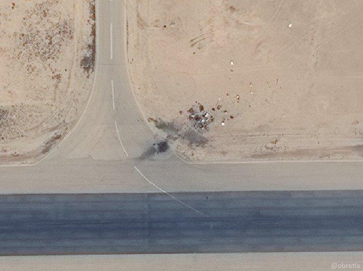 بعد استهداف مركبة التحكم طيارة دون طيار الإيرانية مطار تي فور - 10 شباط (digitalglobe)