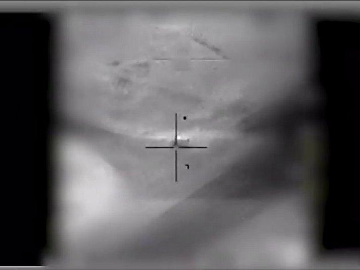 لحظة استهداف مركبة التحكم طيارة دون طيار الإيرانية مطار تي فور - 10 شباط (Israel Defense Forces)