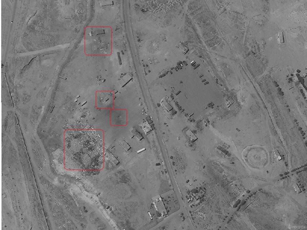 غارة إسرائيلية على قاعدة إيرانية قرب جمرايا- 10 أيار (شمال غرب دمشق)