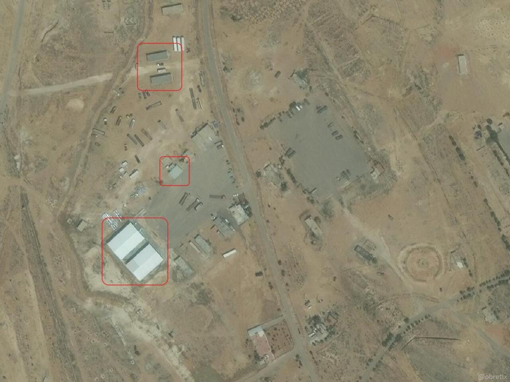غارة إسرائيلية على قاعدة إيرانية قرب جمرايا- 10 أيار (digitalglobe)