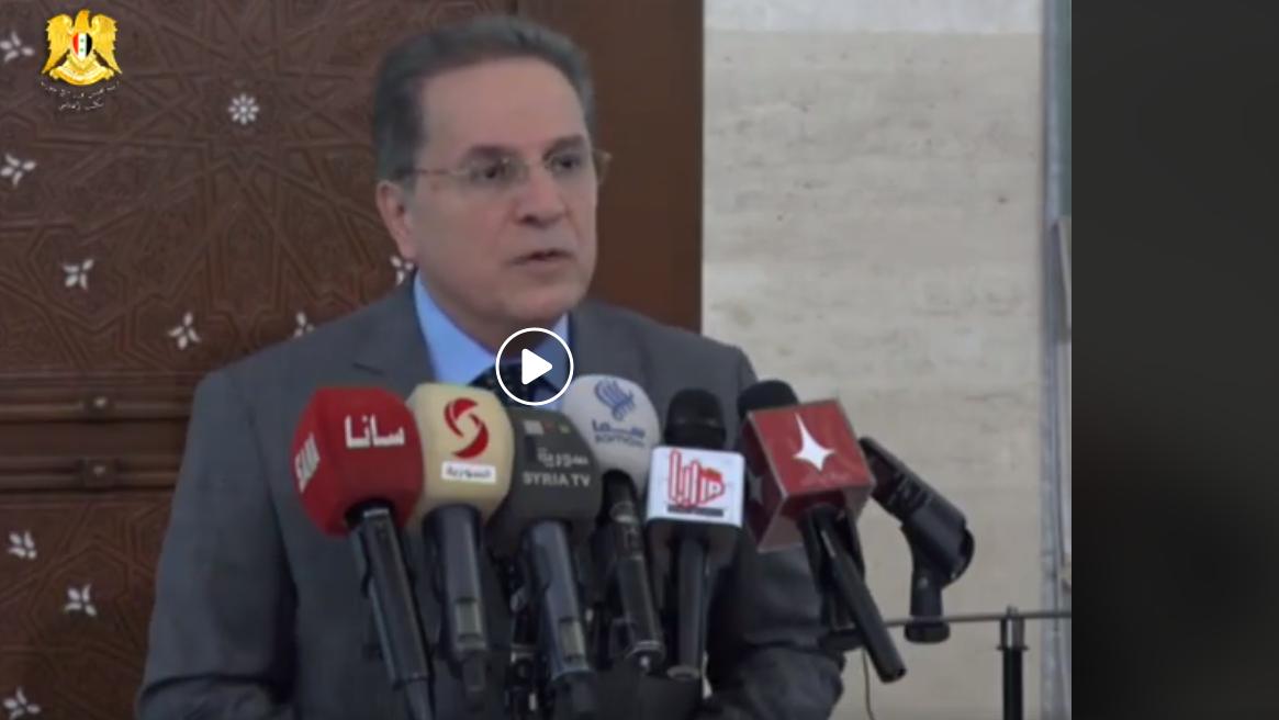 وزير العدل السوري هشام الشعار (صفحة رئاسة مجلس الوزراء فيس بوك)