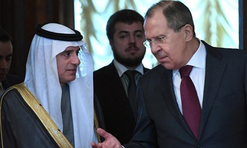 وزيرا الخارجية الروسي والسعودي لافروف والجبير- (انترنت)