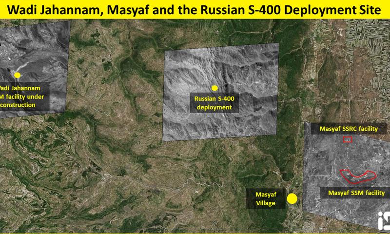 صور أقمار اصطناعية تظهر موقع المصنع الإيراني قرب بانياس في سوريا - 31 من آب 2018 (ISI)