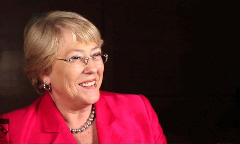 الرئيسة التشيلية السابقة ميشيل باشيليت (يوتيوب)