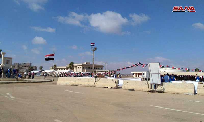 افتتاح معبر نصيب أمام اللاجئين العائدين- 14 آب 2018 (سانا)