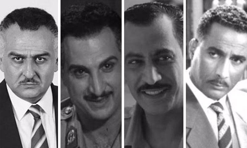 أحمد زكي،ياسر المصري، خالد الصاوي، وجمال سليمان (تعديل عنب بلدي)