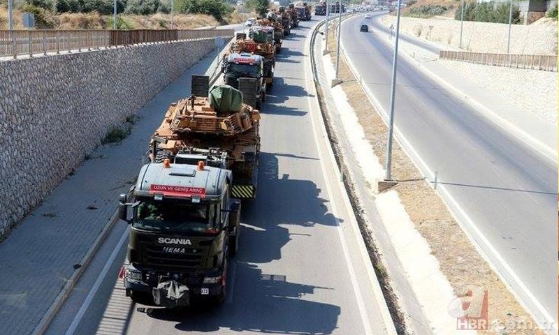 تعزيزات عسكرية تركية تصل هاتاي على الحدود السورية التركية - 17 من آب 2018 (AHBR)