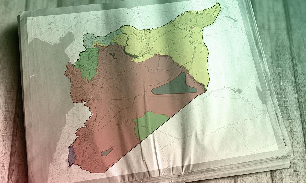 خريطة النفوذ في سوريا - 4 آب 2018 (عنب بلدي)