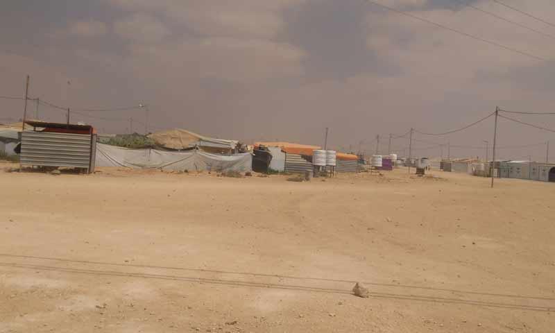 مخيم الزعتري للاجئين السوريين في الأردن - آب 2018 (عنب بلدي/ محمد عبد الستار إبراهيم)