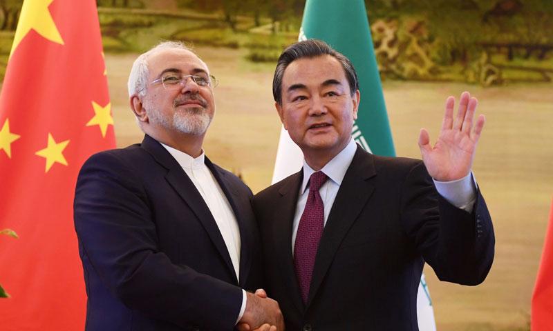 وزيرا الخارجية الصيني والإيراني (presstv.com)