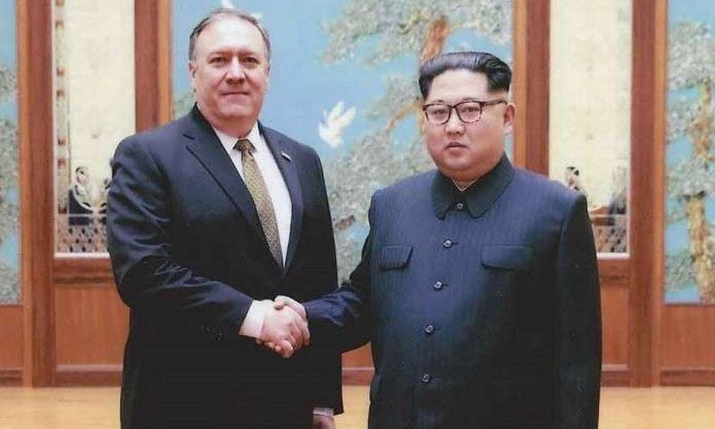 الزعيم الكوري كيم جونغ أون ووزير الخاريجة الأمريكي مابك بومبيو، -صورة تعبيرية (وكالات عالمية)