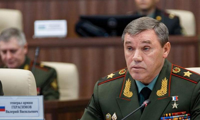 الجنرال الروسي فاليري جيراسيموف -(وكالة روسية)
