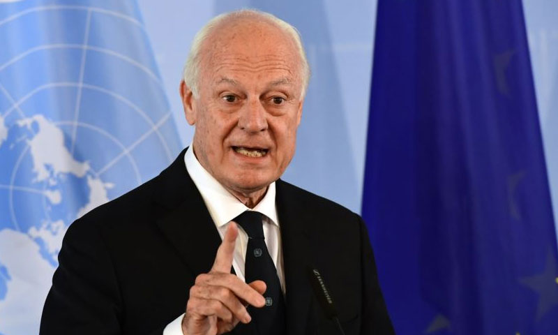 المبعوث الأممي إلى سوريا ستيفان دي ميستورا (AFP)