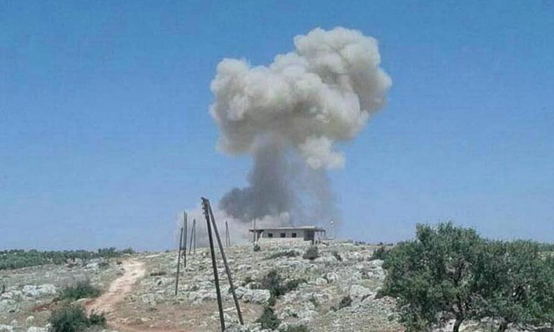 سيارة مفخخة تضرب مقر الجبهة الوطنية للتحرير في جبل الاربعين جنوبي إدلب 18 آب 2018 (الفساد في إدلب)