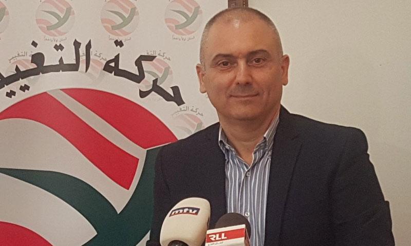 رئيس حركة التغيير اللبناني، إيلي محفوض (الوكالة اللبنانية للإعلام)