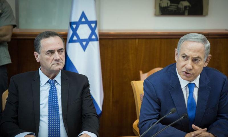 رئيس الوزراء الاسرائيلي بنيامين نتنياهو و وزير الاستخبارات يسرائيل كاتس (APN)
