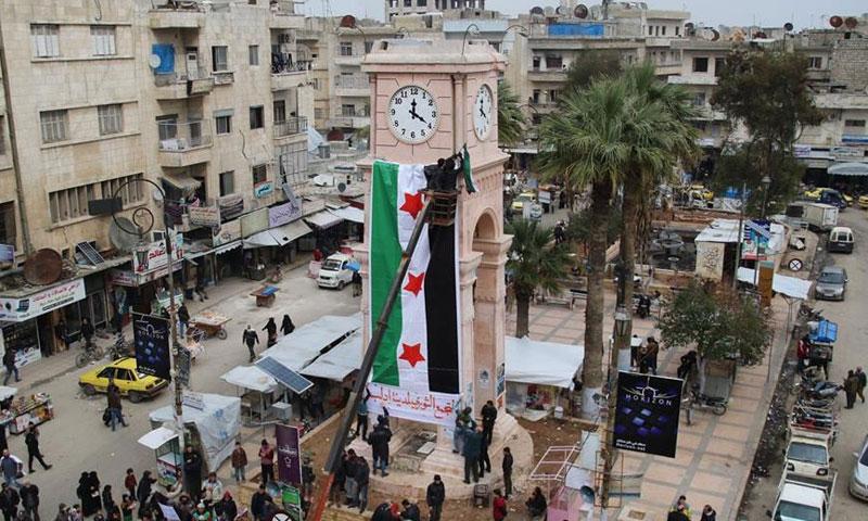 ساحة الساعة في مدينة إدلب (إدلب نيوز 24)