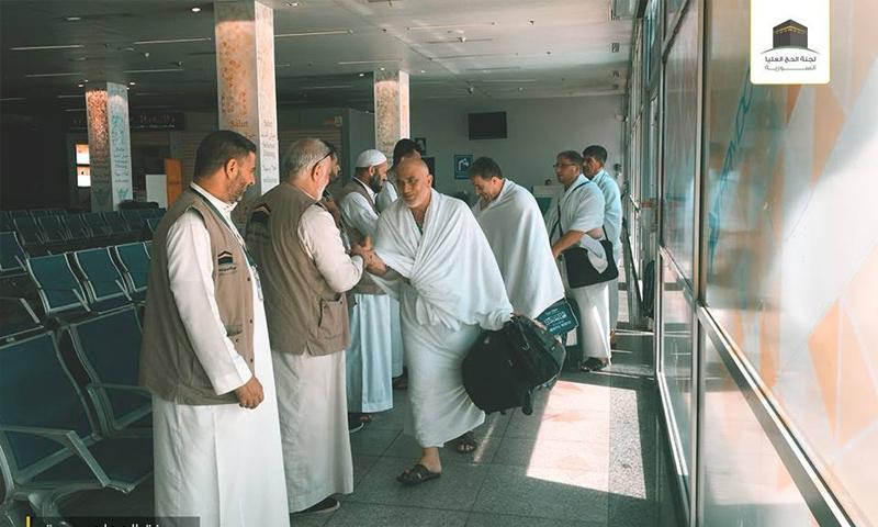 وصول الدفعة الأولى من الحجاج السوريين إلى مطار جدة في السعودية - 3 من آب 2018 (لجنة الحج العليا)