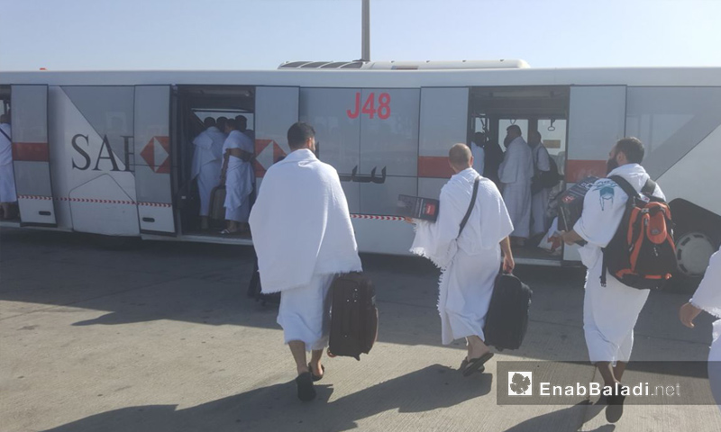 حجاج سوريون يصلون مطار جدة لأداء مناسك الحج - 4 من آب 2018 (عنب بلدي)