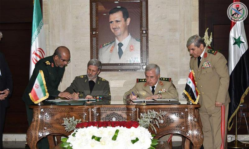 وزير الدفاع السوري علي عبد الله أيوب ونظيره الإيراني أمير حاتمي- 26 آب 2018 (سانا)
