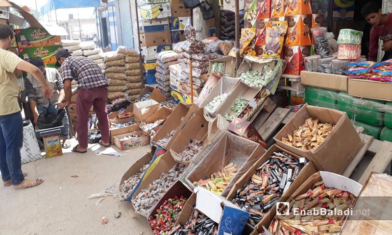 محل تجاري في ريف حلب الشمالي - 20 من آب 2018 (عنب بلدي)