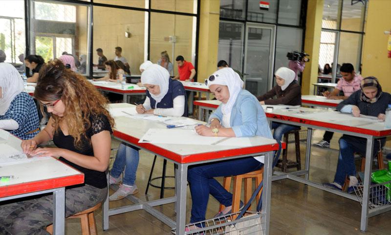 امتحانات كلية الهندسة في جامعة دمشق (سانا)