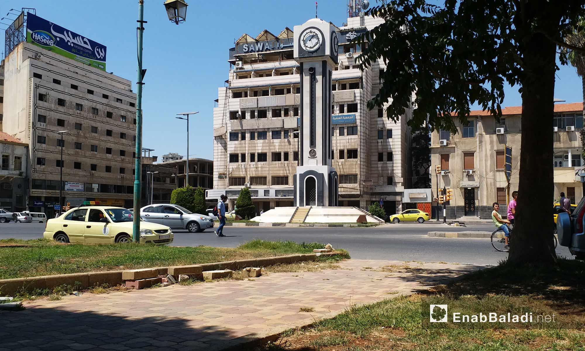 الساعة الجديدة وسط مدينة حمص - 19 من آب 2018 (عنب بلدي)