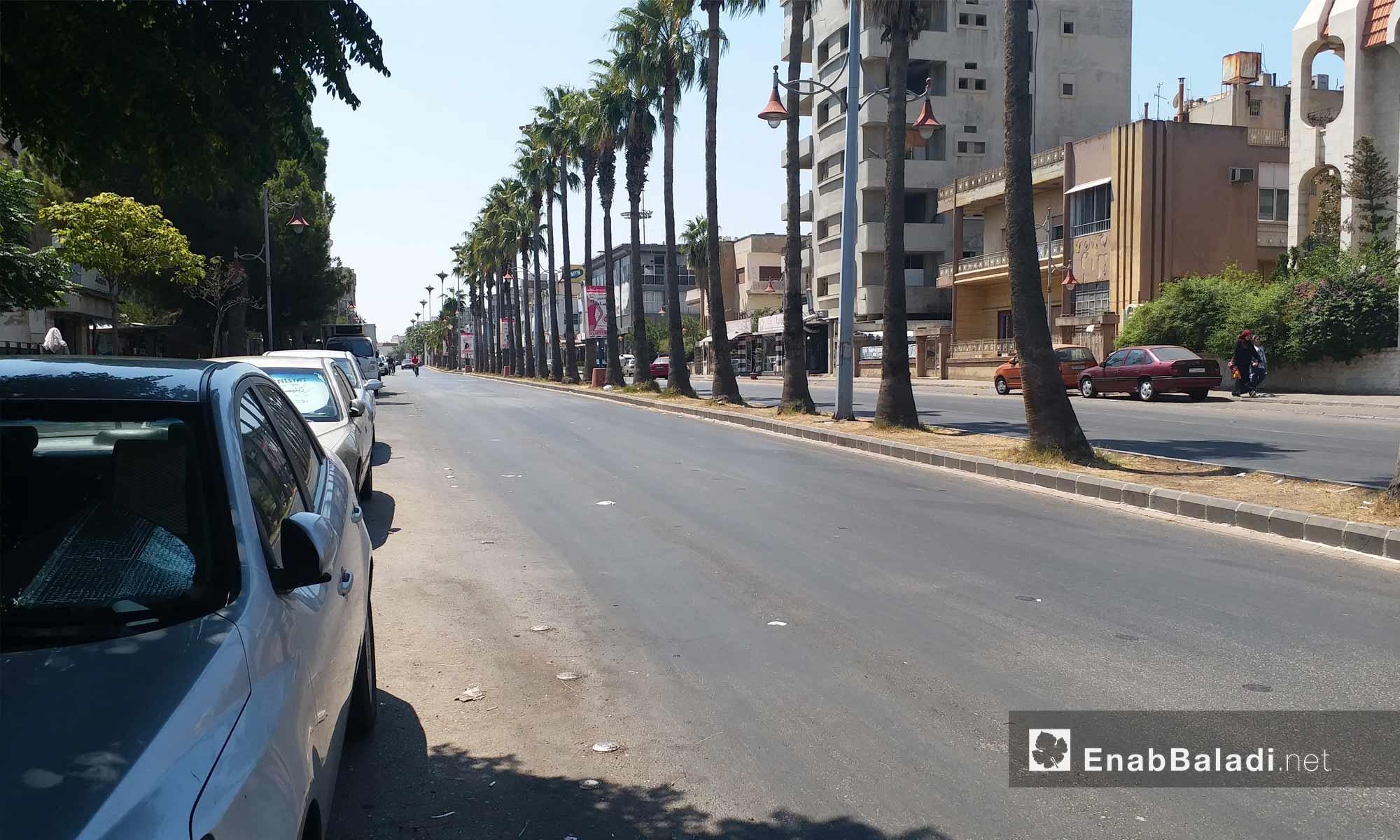 شارع البرازيل في مدينة حمص - 19 من آب 2018 (عنب بلدي)