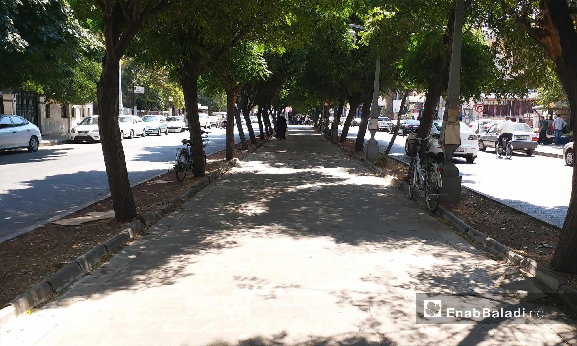 شارع الغوطة في مدينة حمص - 19 من آب 2018 (عنب بلدي)