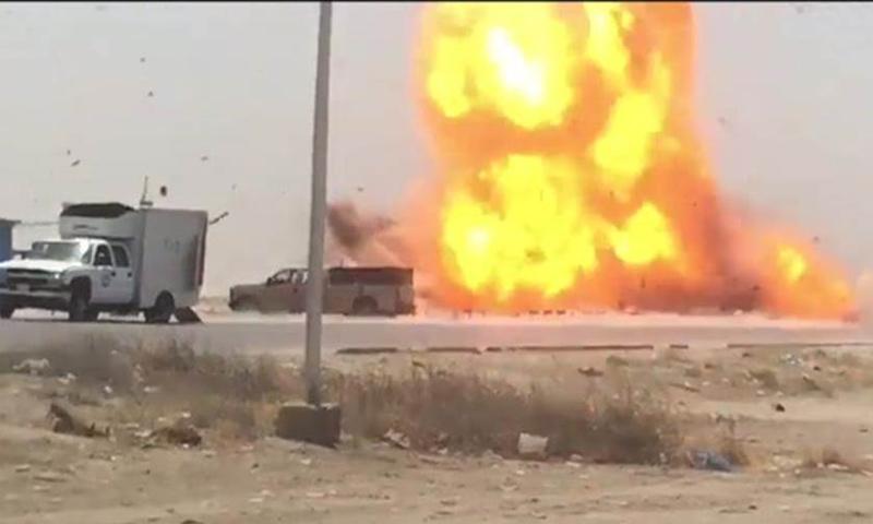 انفجار في مدينة القائم على الحدود العراقية- السورية- 29 آب 2018 (نوى)