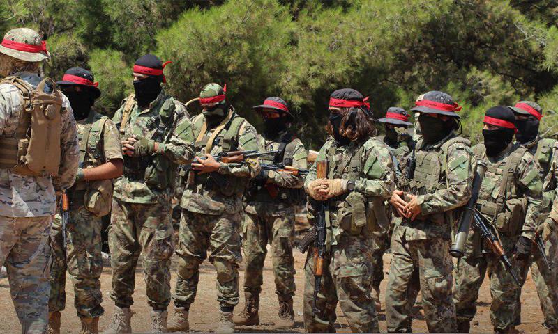 أصحاب العصائب الحمراء في هيئة تحرير الشام - آب 2018 (تحرير الشام)