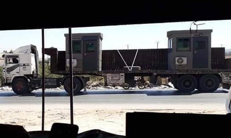 محارس تدخلها تركيا إلى نقطة المراقبة في مورك بريف حماة الشمالي - 15 من آب 2018 (فيس بوك)