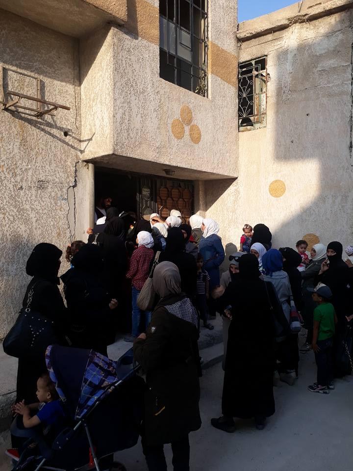 المركز الصحي المفتتح في بلدة حمورية بالغوطة الشرقية (صفحة الغوطة)