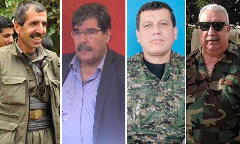 معراج أورال، فرهاد عبدي شاهين، صالح مسلم، فهمان حسين (تعديل عنب بلدي)